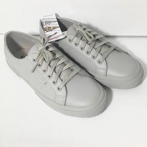 Superga Monochrome Light Grey Low Top Sneakers